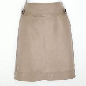 Banana republic mini skirt, size 4, tan tone.